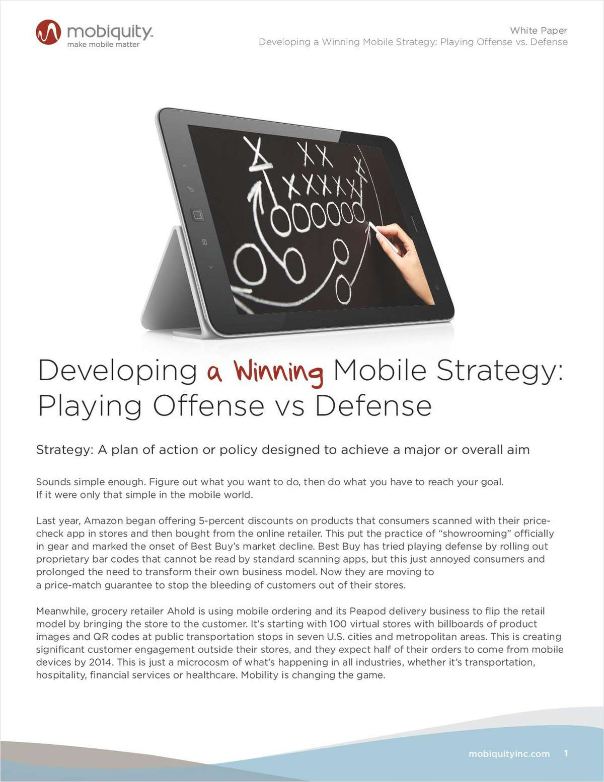 Developing a Winning Mobile Strategy: Playing Offense vs. Defense