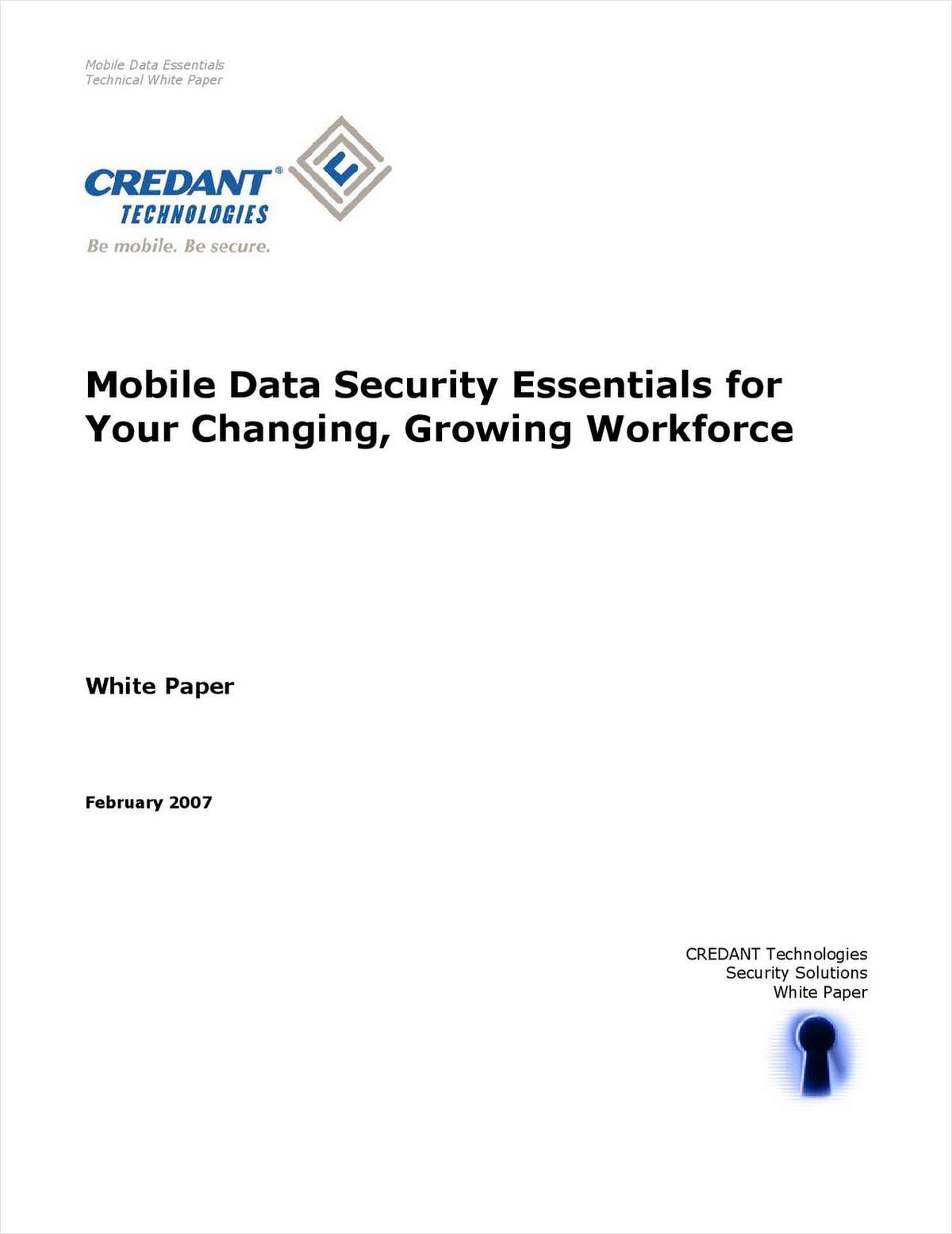 Mobile Data Security Essentials for Your Changing, Growing Workforce