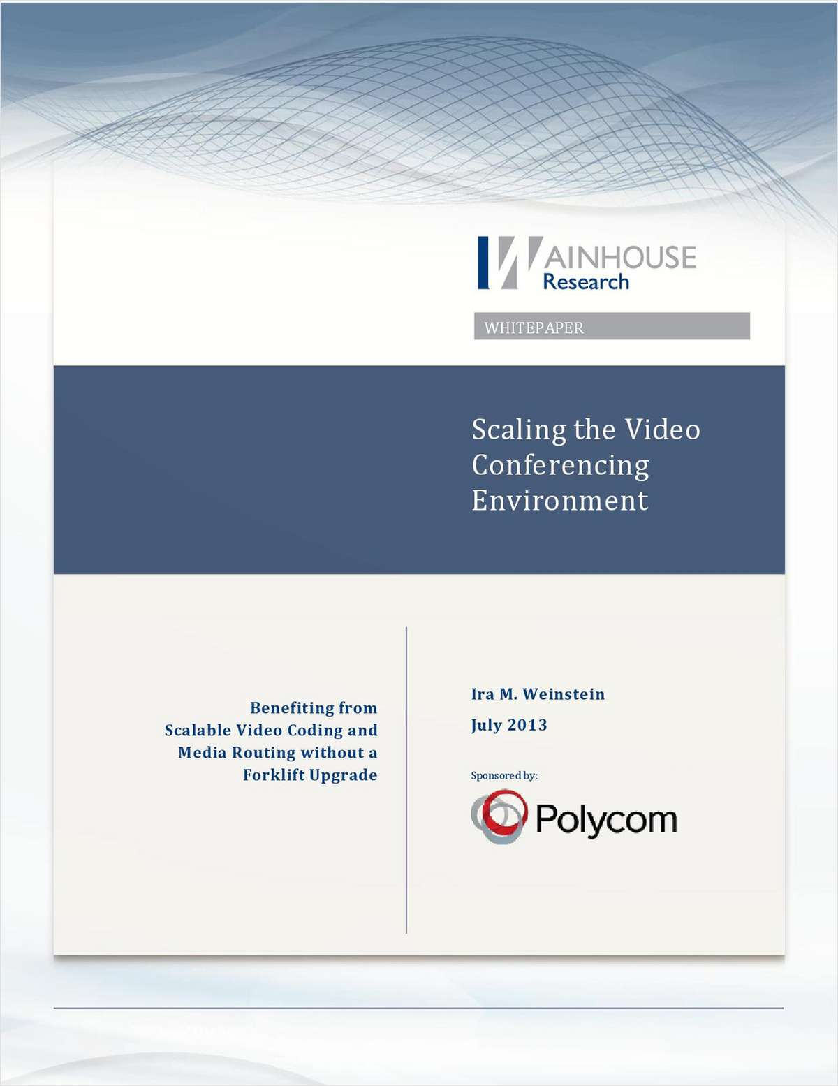 Scaling the Video Conferencing Environment