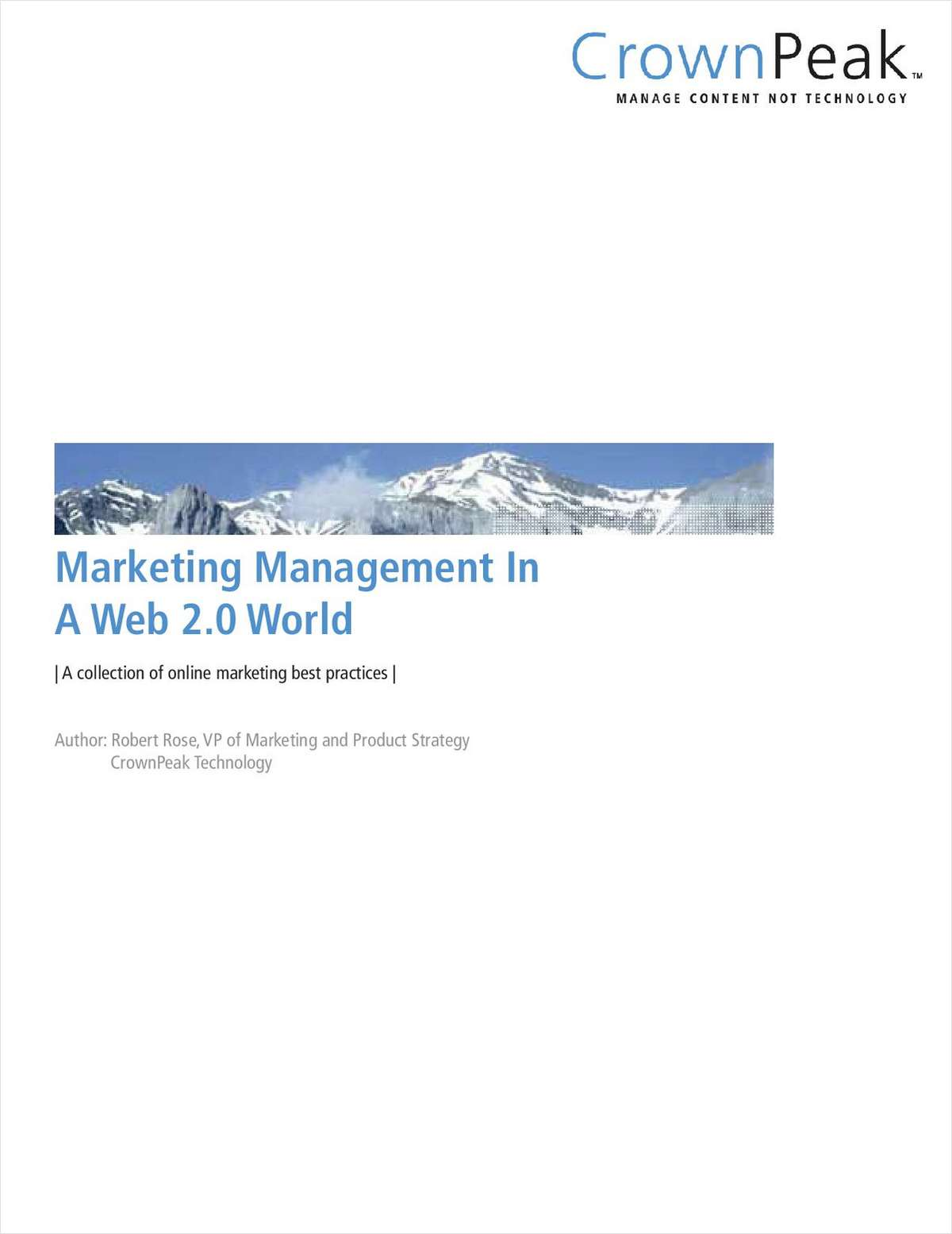 Marketing Management In A Web 2.0 World