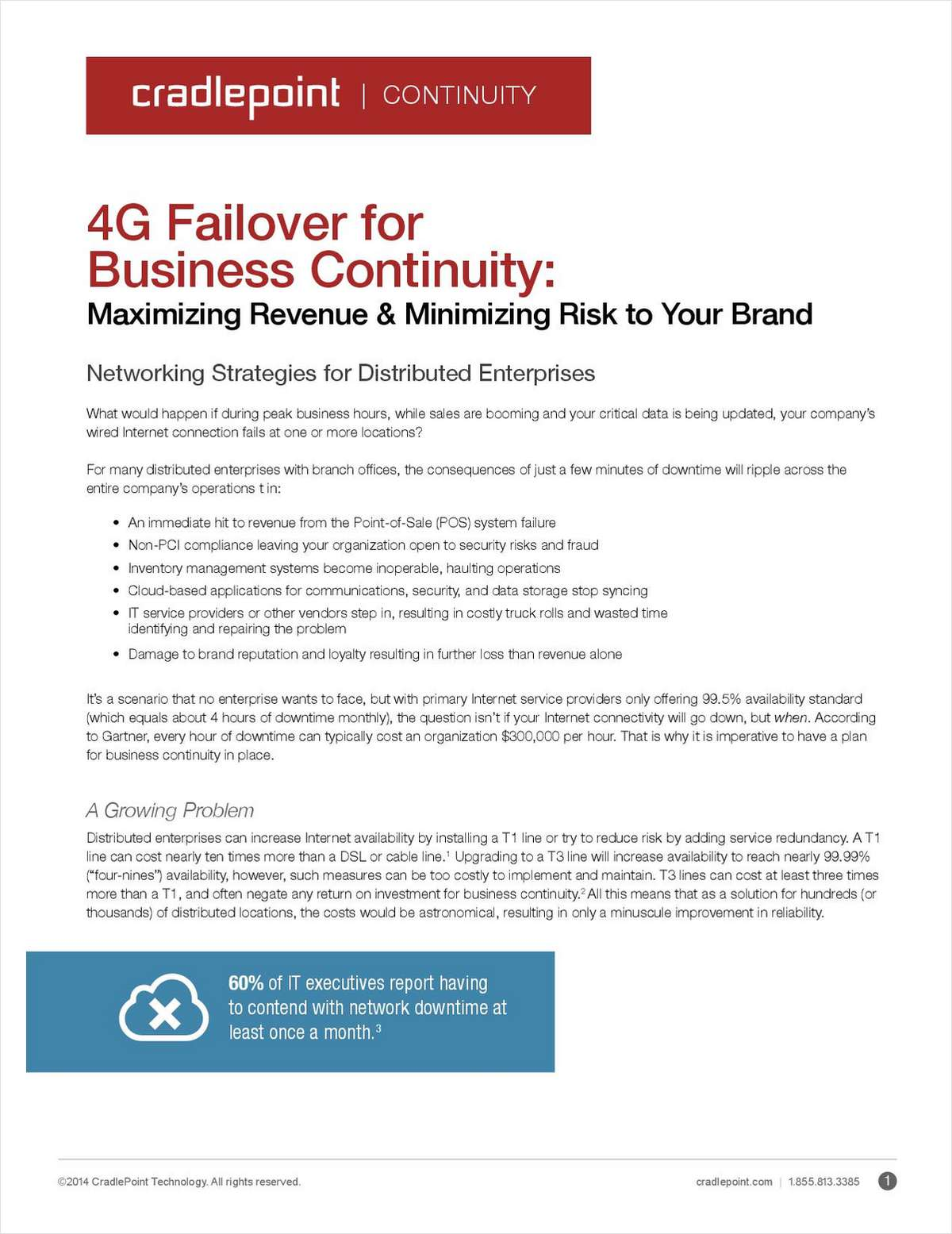 4G Failover for Business Continuity: Maximizing Revenue and Minimizing Business Risk to Your Brand