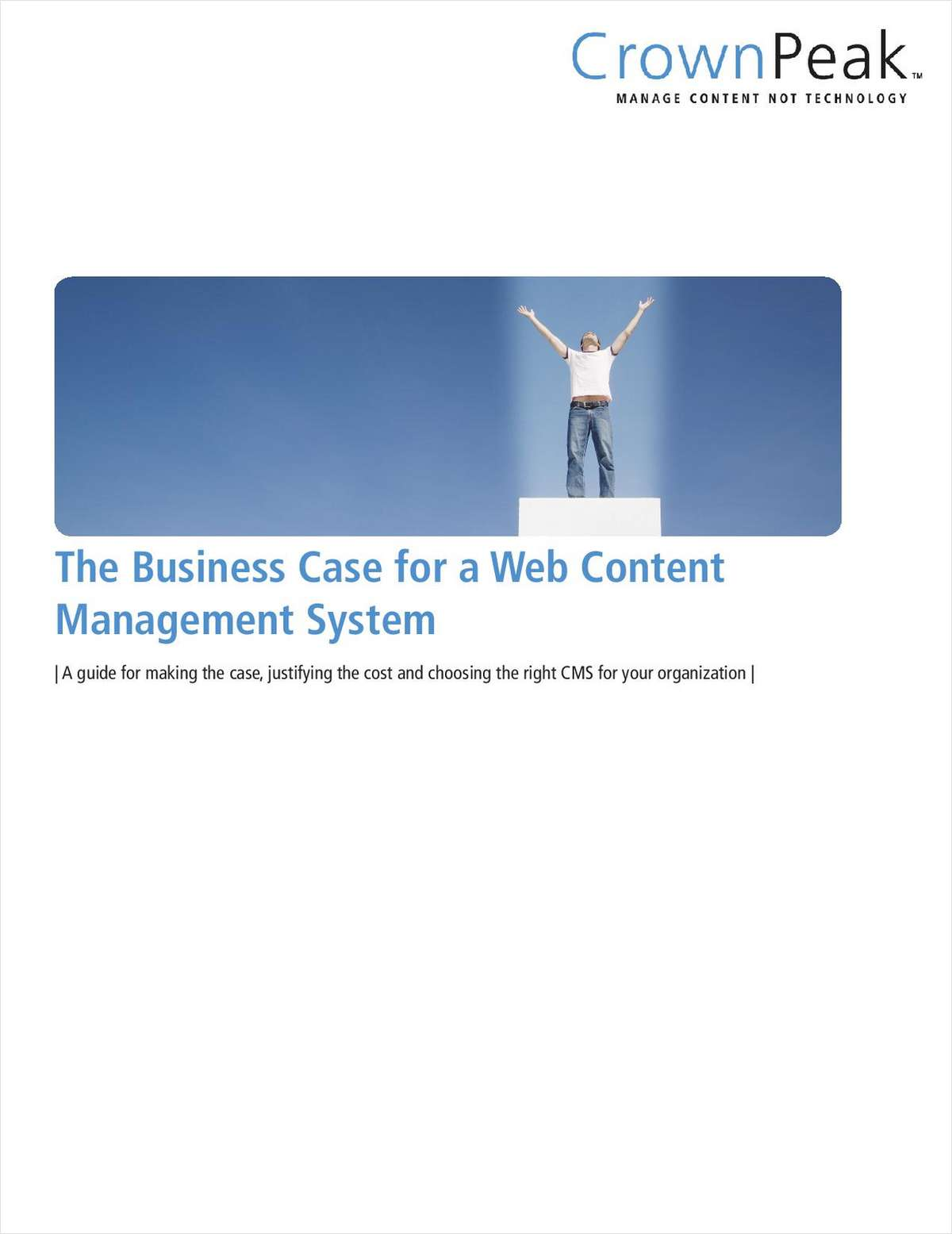 The Business Case for a Web Content Management System