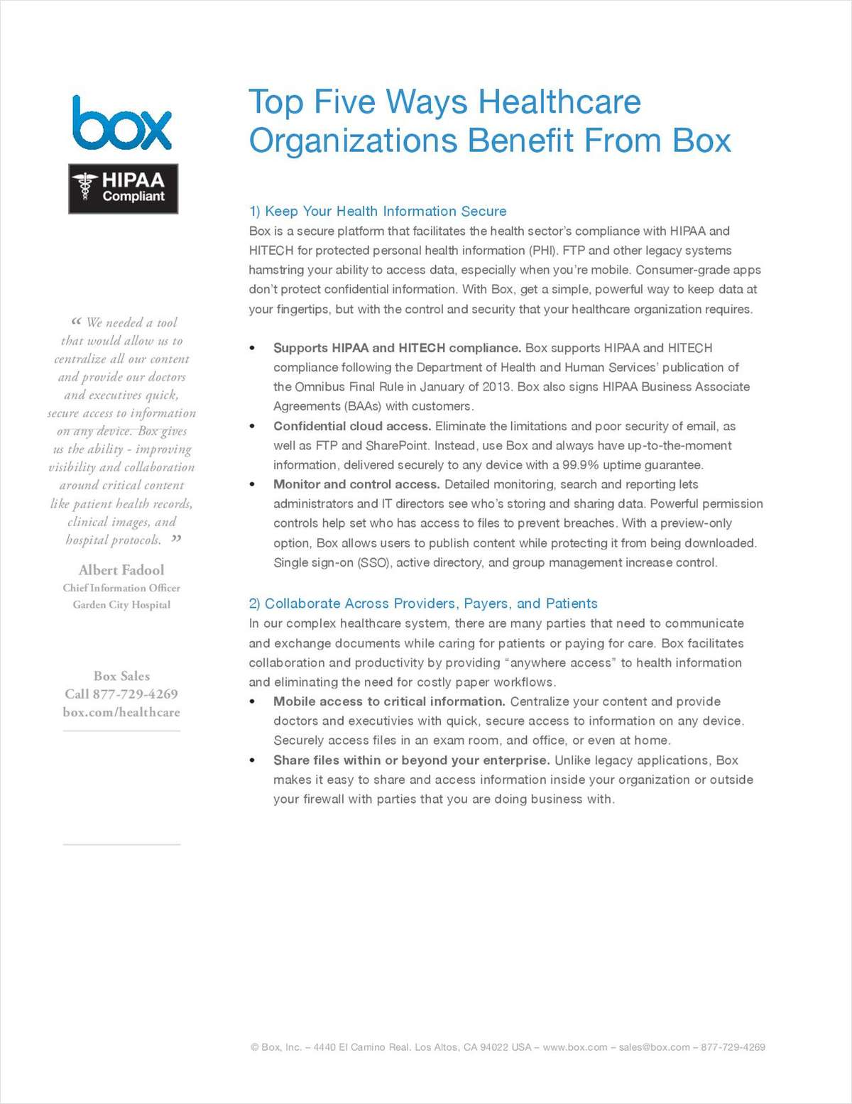 Top 5 Ways HCOs Benefit from Box