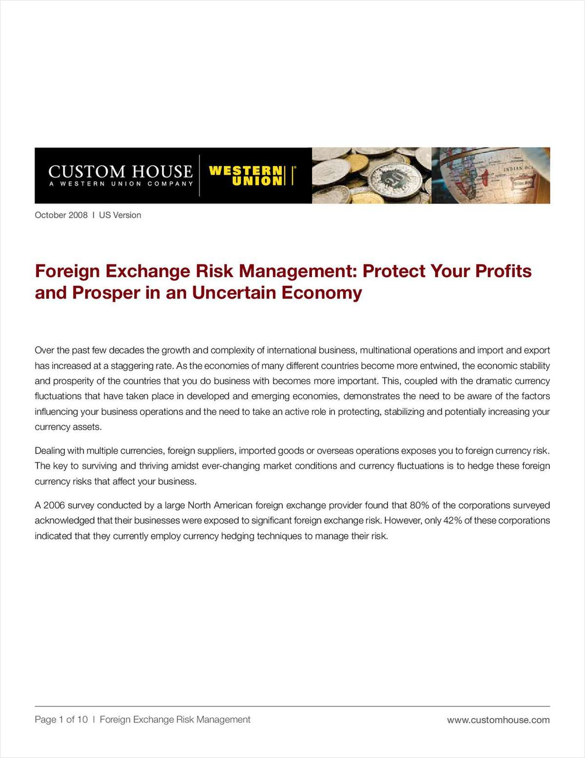 Hedge Your Currency Risks – Foreign Exchange Risk Management