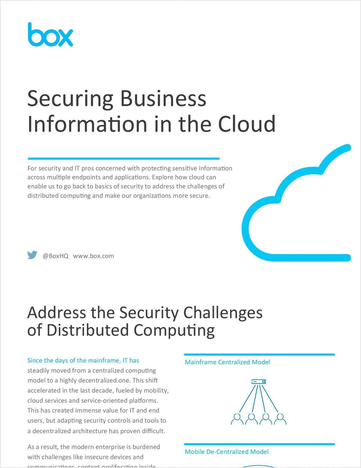Securing Business Information in the Cloud