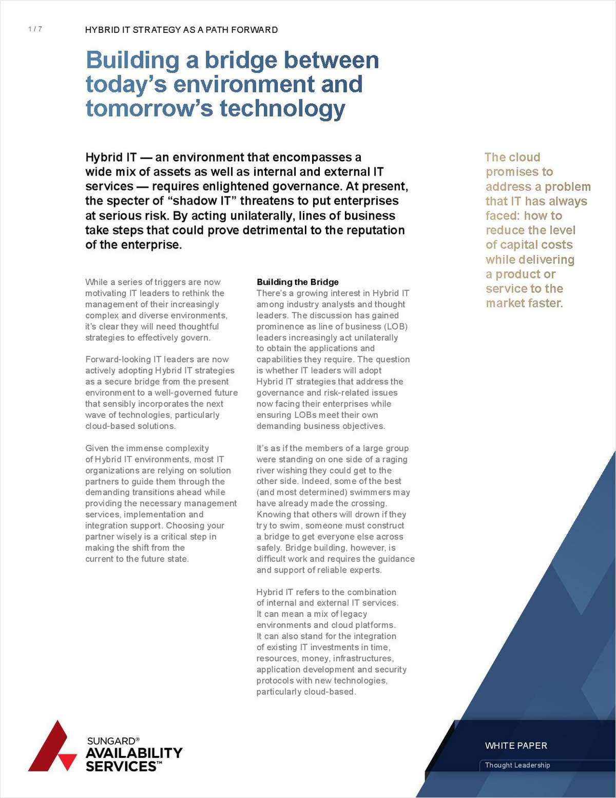 Why Hybrid IT Strategy is a Bridge Between Today's Environment and Tomorrow's Technology