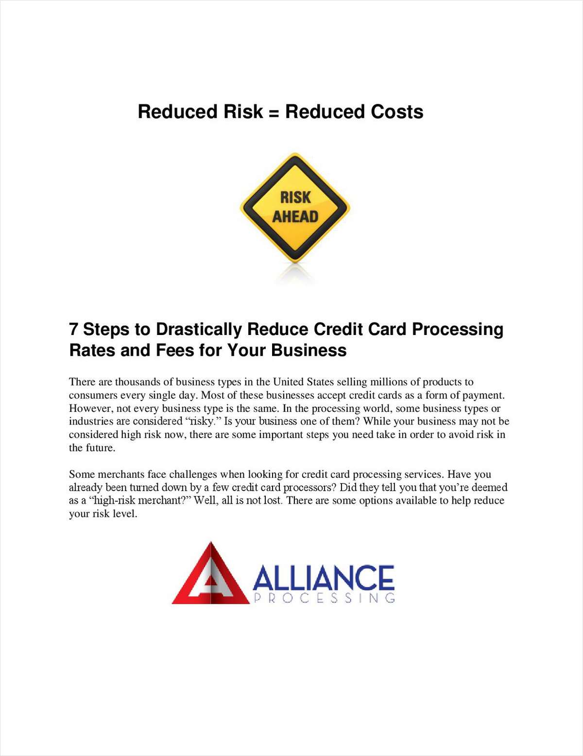 7 steps to drastically reduce credit card processing rates and fees 7 steps to drastically reduce credit card processing rates and fees for your business free alliance processing white paper reheart Image collections