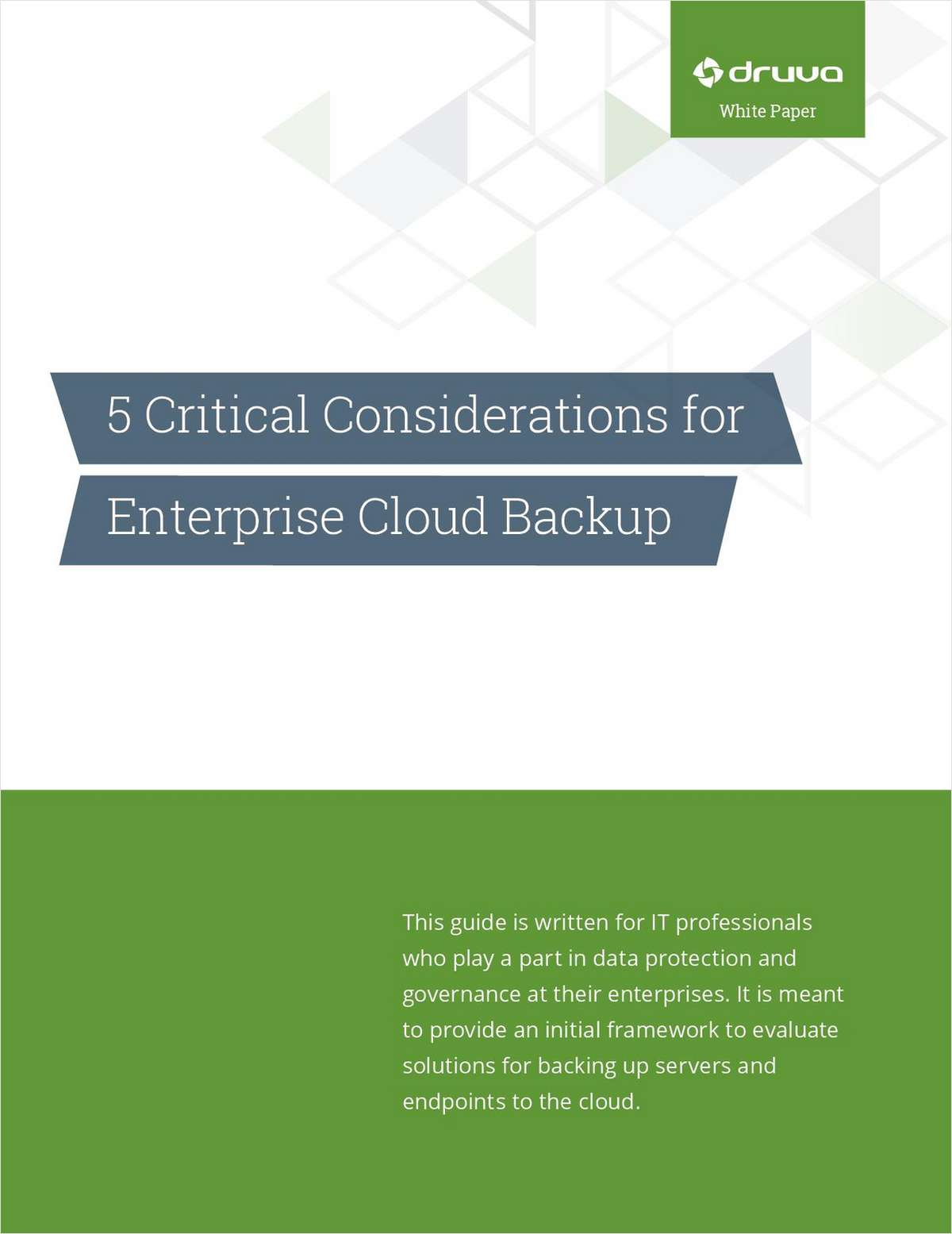 5 Critical Considerations for Enterprise Cloud Backup