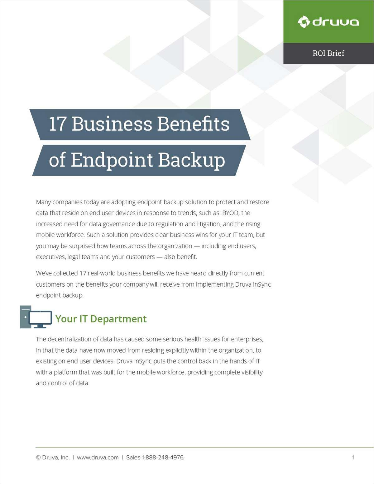 17 Business Benefits of Endpoint Backup
