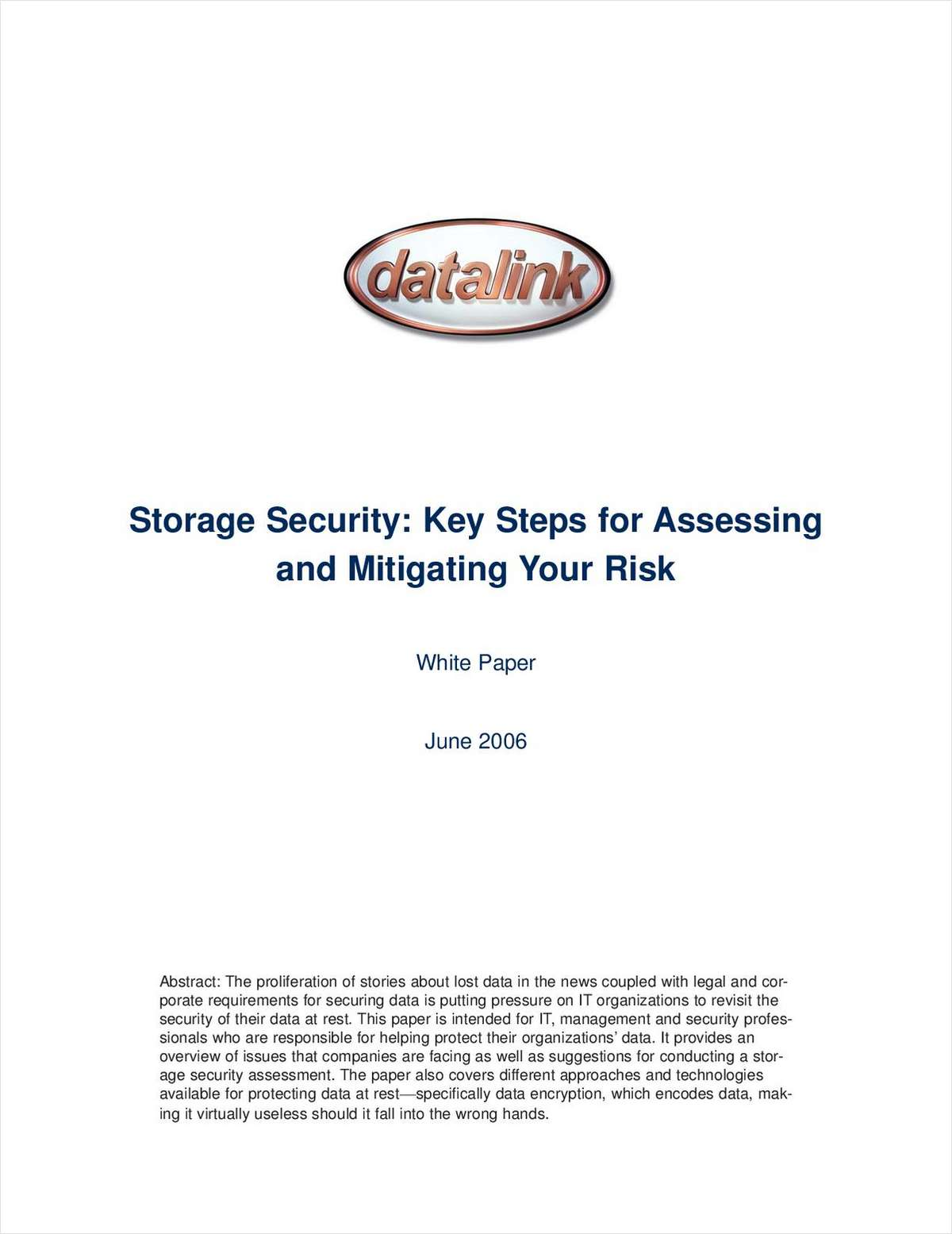 Storage Security: Key Steps for Assessing and Mitigating Your Risk