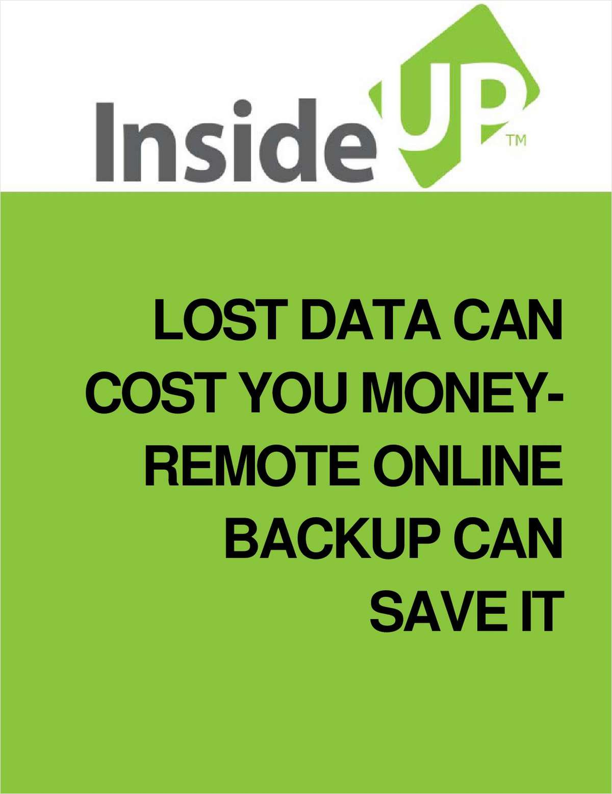 Lost Data Can Cost You Money - Remote Online Backup Can Save It