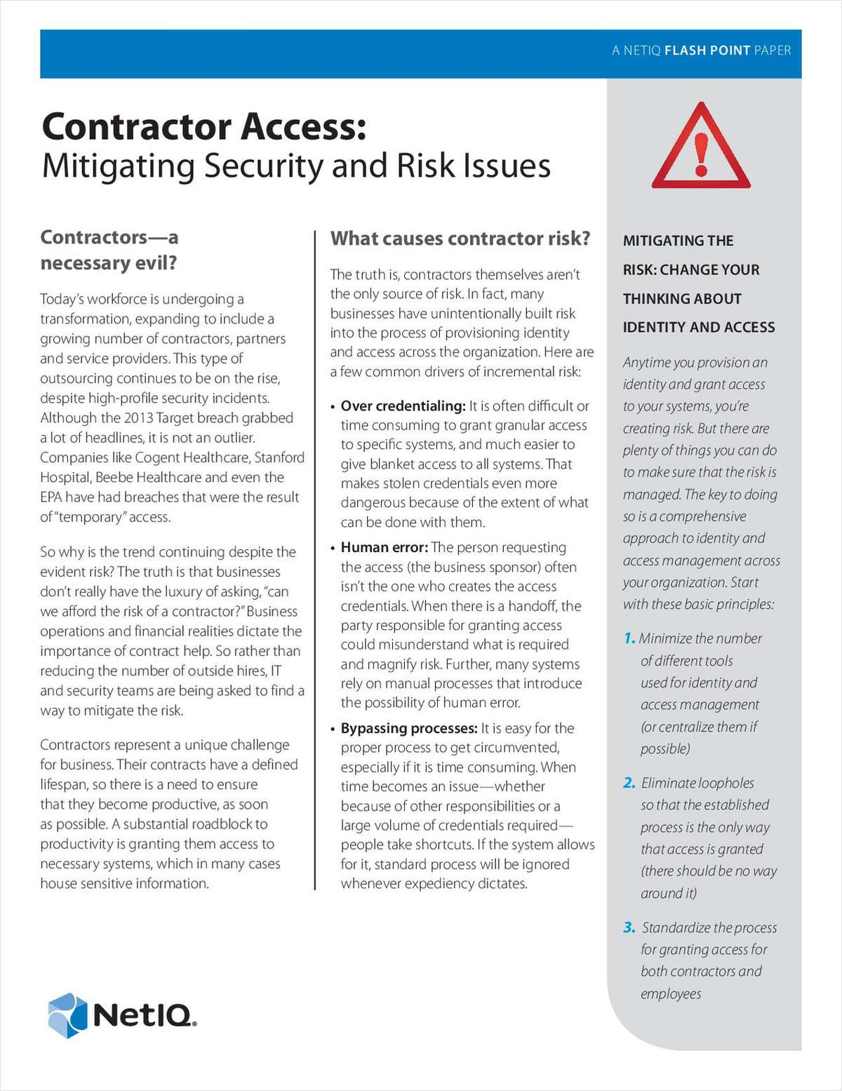 Contractor Access: Mitigating Security and Risk Issues