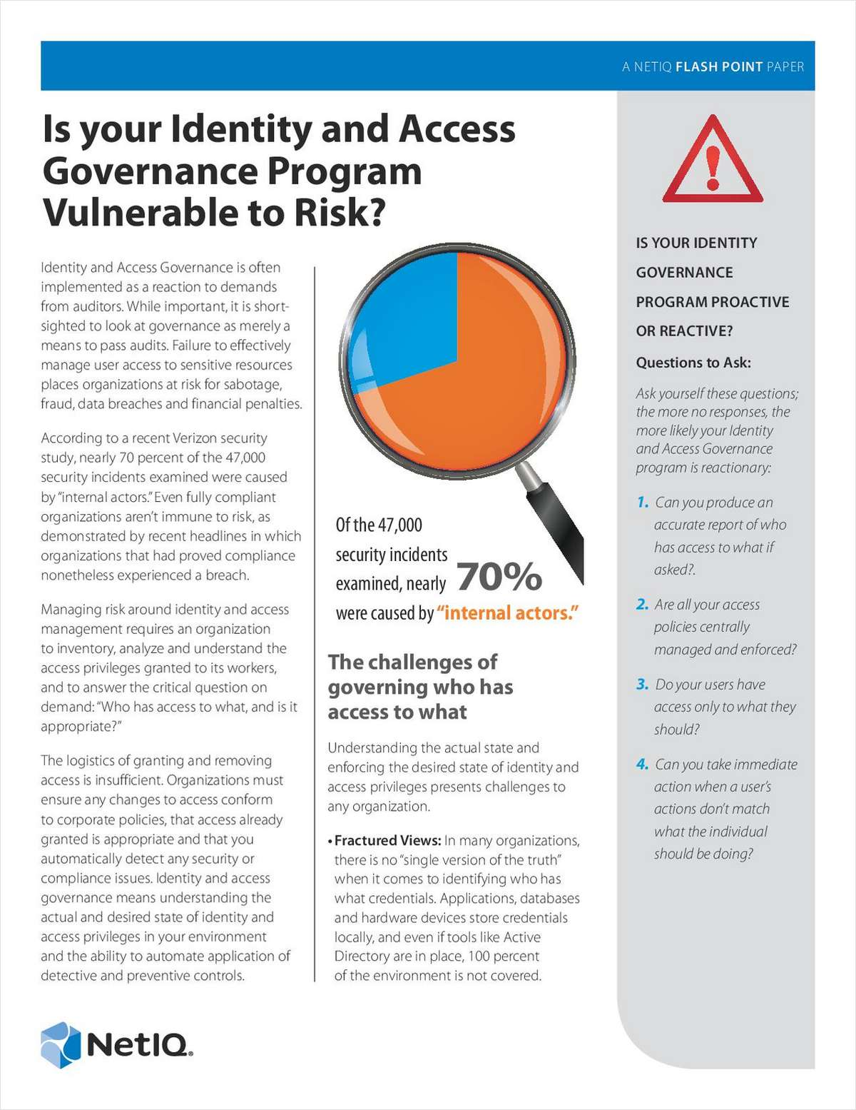 Is Your Identity and Access Governance Program Vulnerable to Risk?