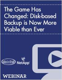 The Game Has Changed: Disk-based Backup is Now More Viable than Ever