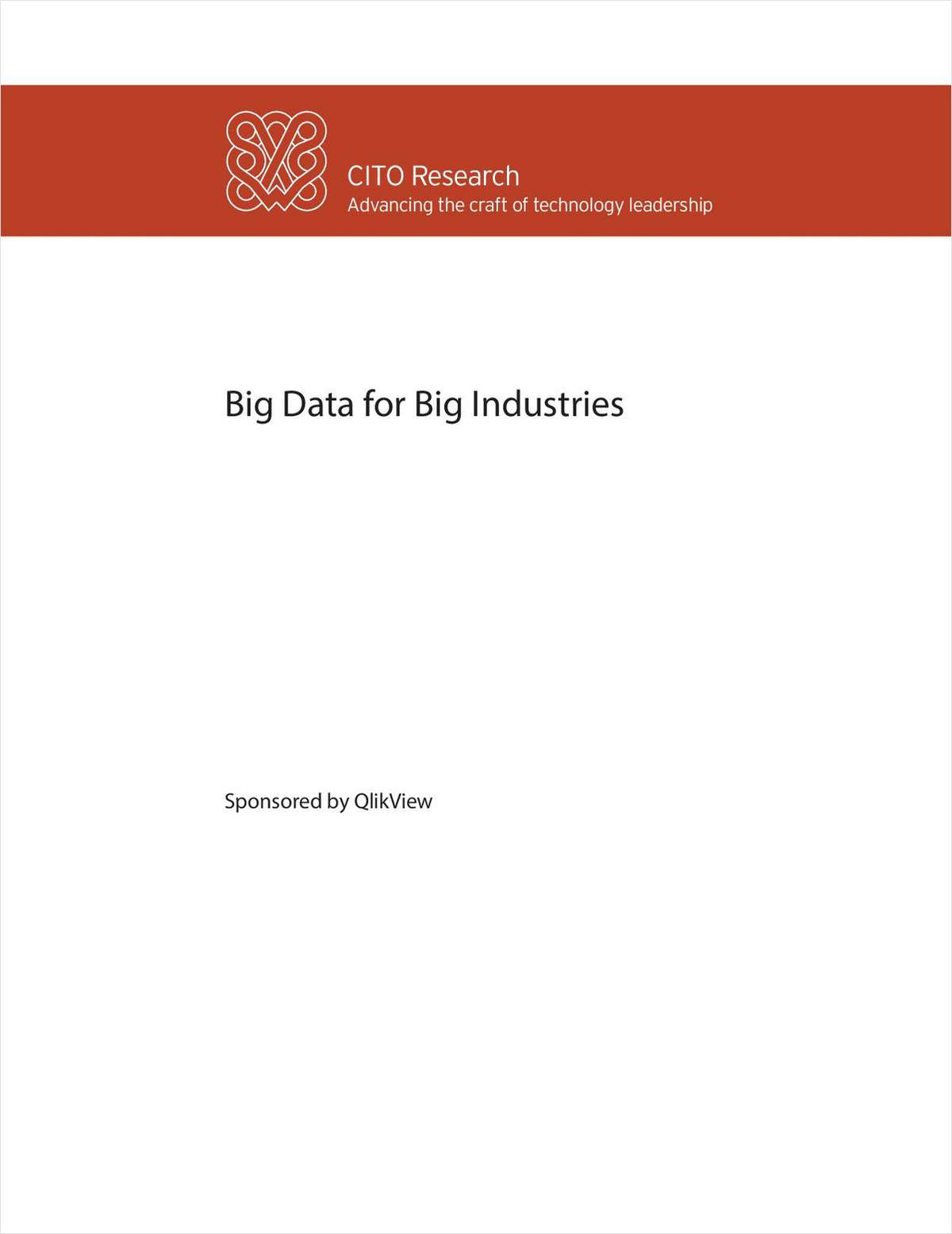 Big Data for Big Industries