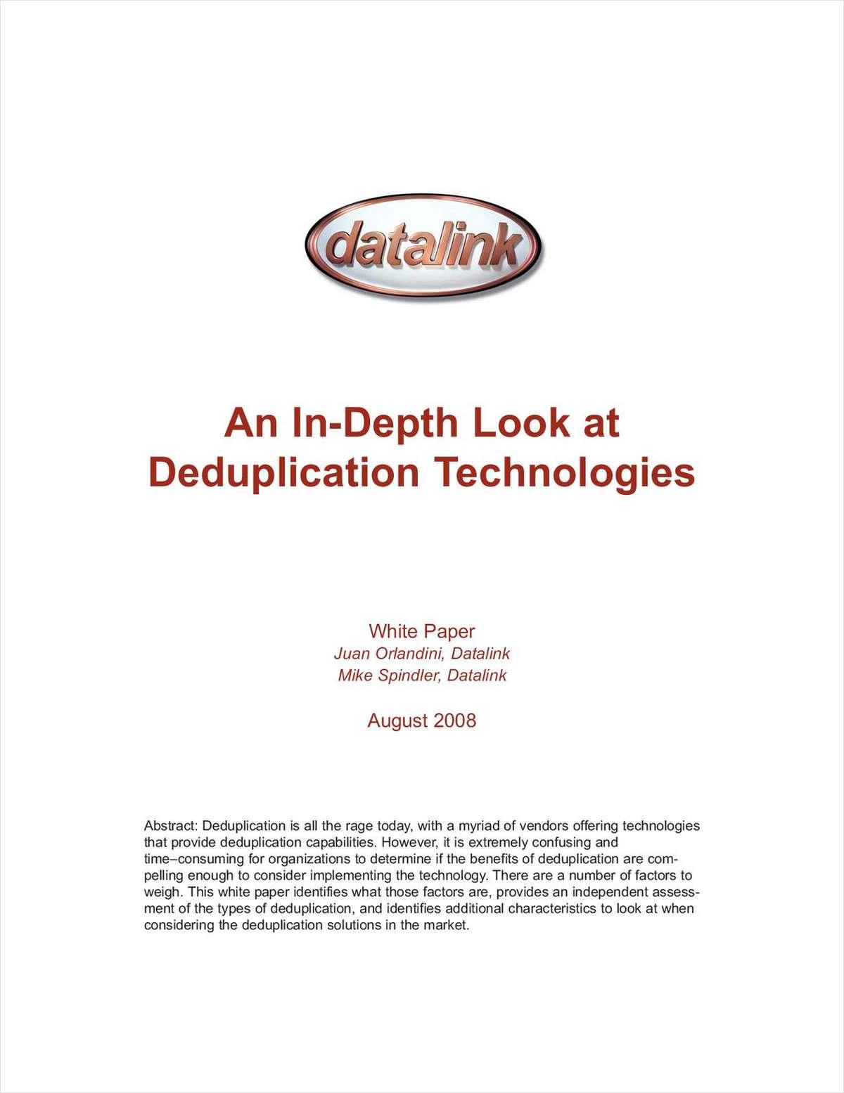 An In-Depth Look at Deduplication Technologies