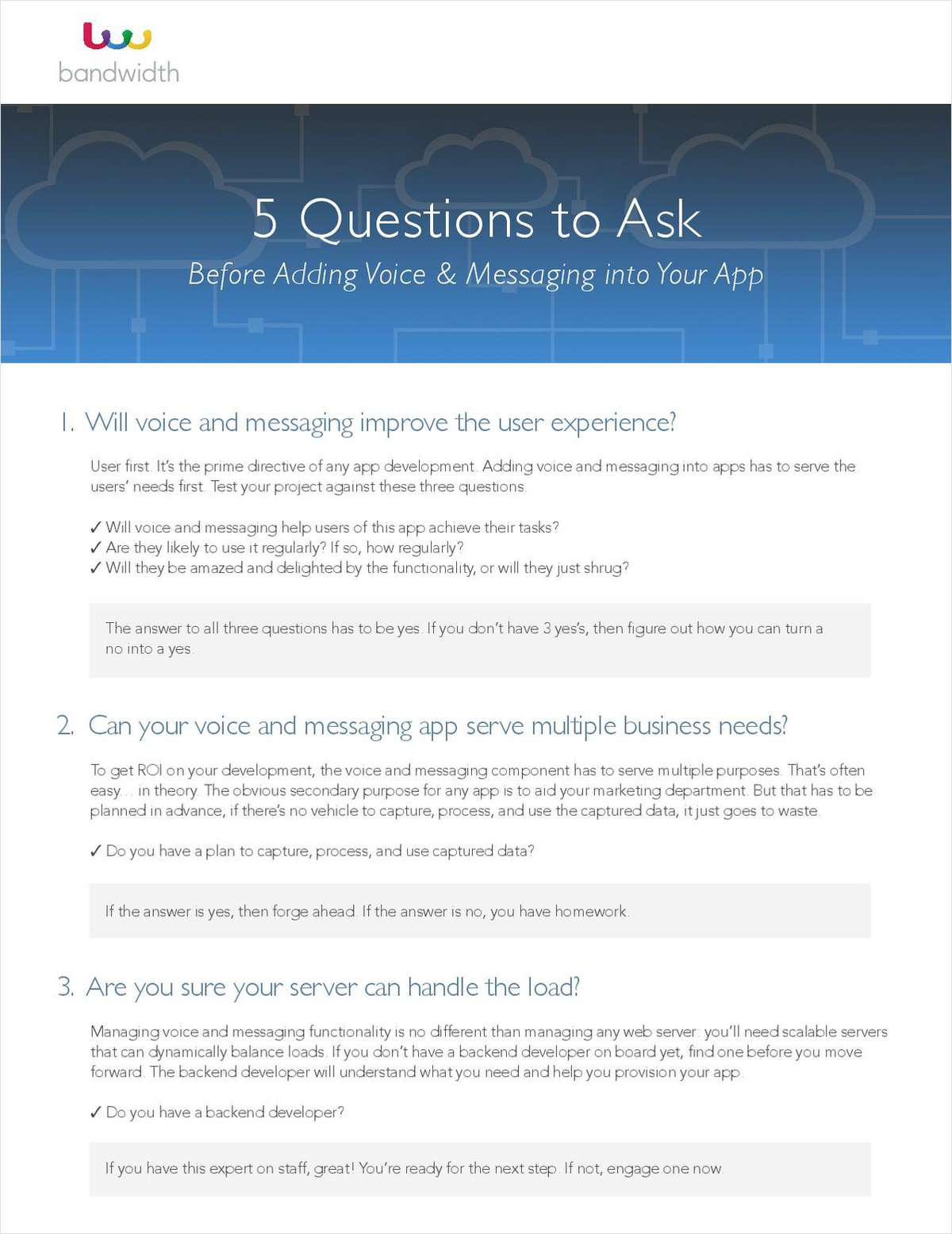 5 Questions to Ask Before Adding Voice & Messaging Into Your App