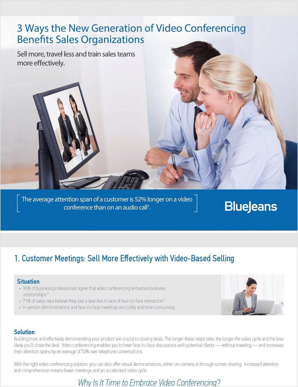3 Ways the New Generation of Video Conferencing Benefits Sales Organizations