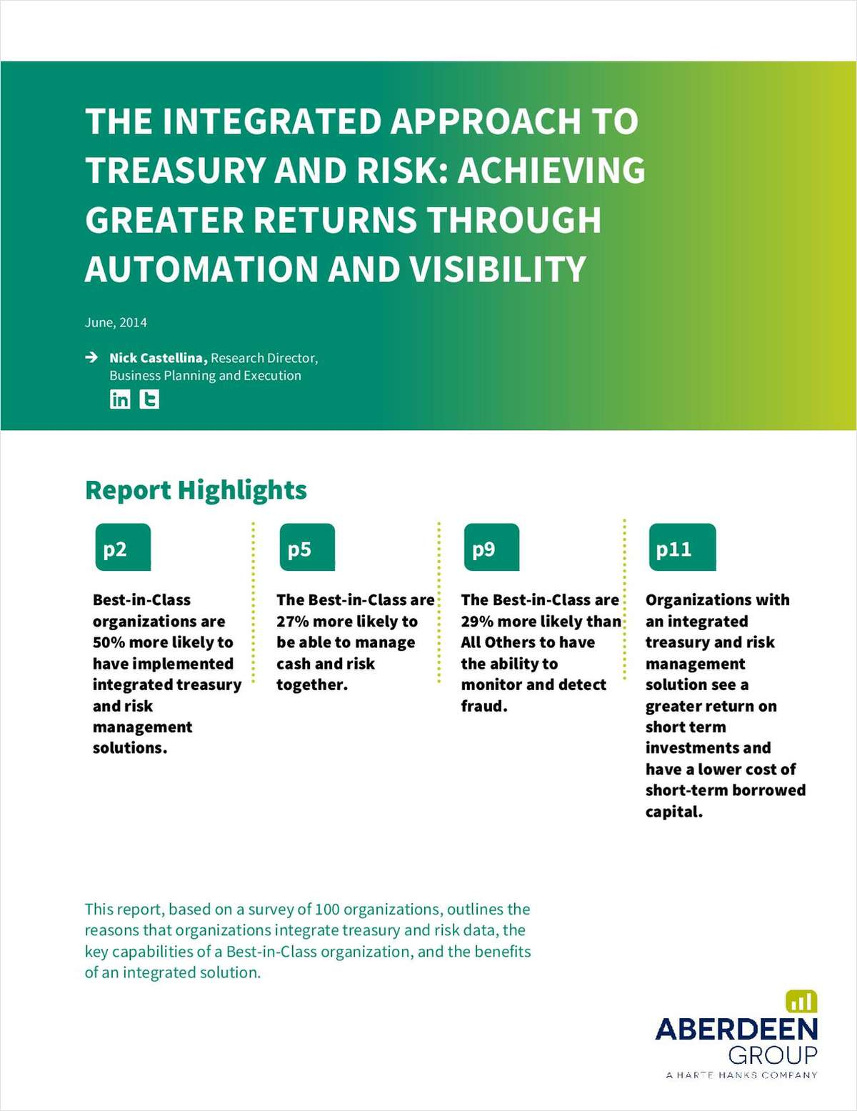 The Treasury and Risk Guide: Achieve Greater Returns through Integration