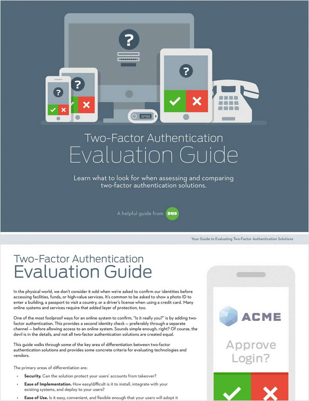 Two-Factor Authentication Evaluation Guide