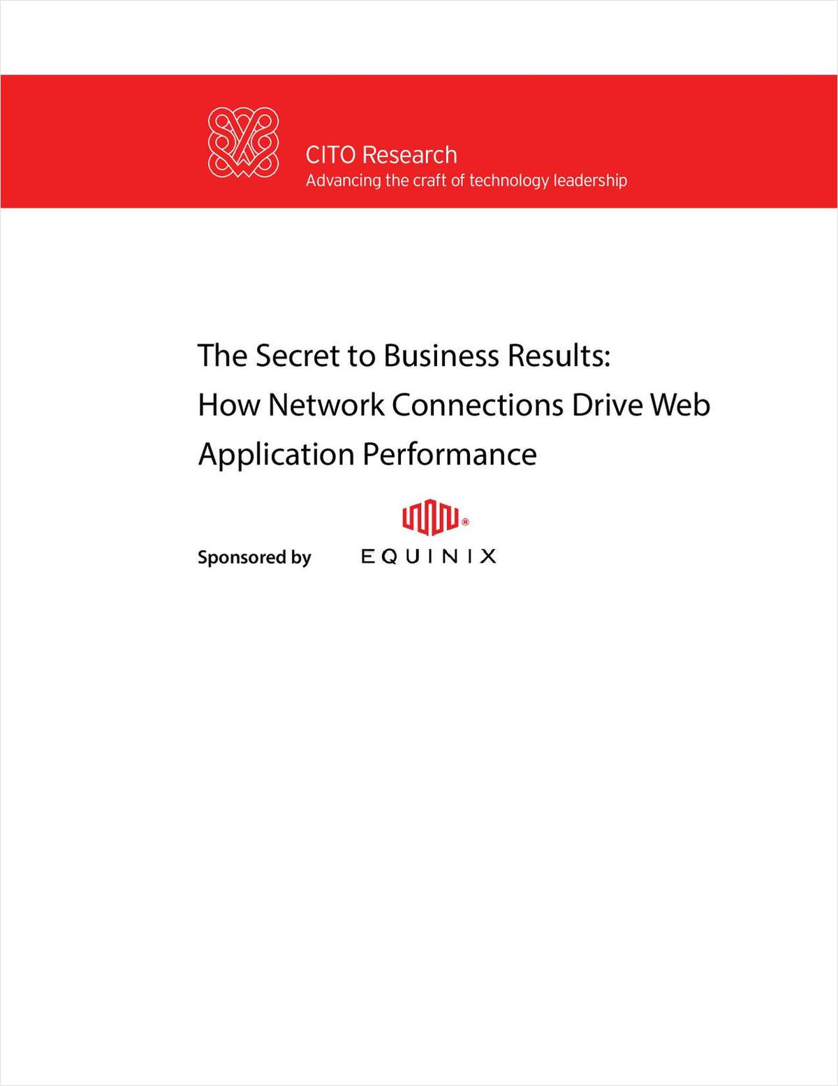 The Secret to Business Results: How Network Connections Drive Web Application Performance