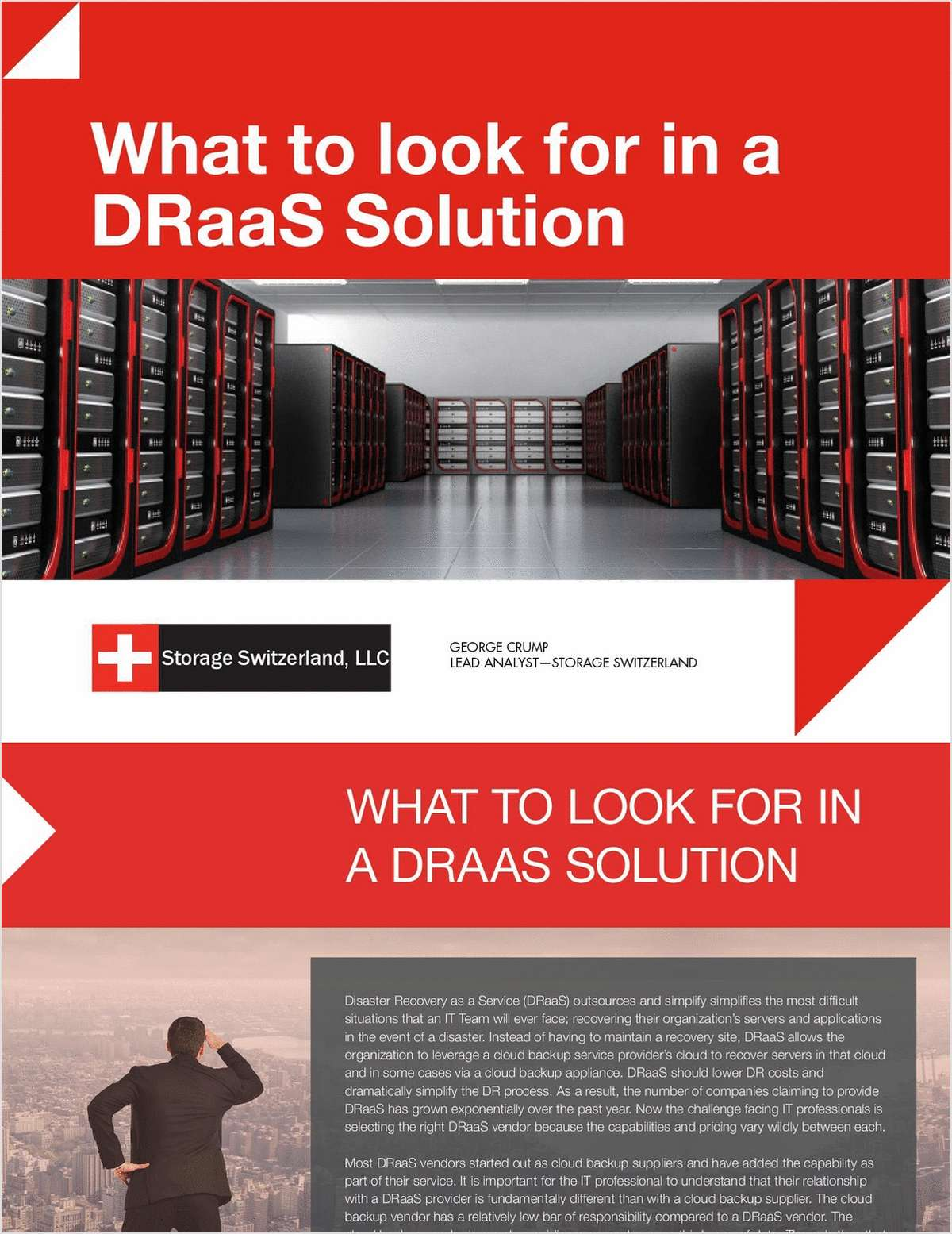 What to Look for in a DRaaS Solution