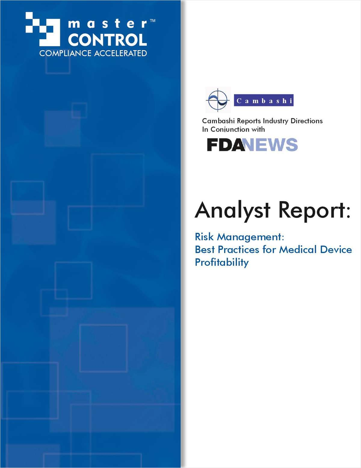 Risk Management: Best Practices for Medical Device Profitability