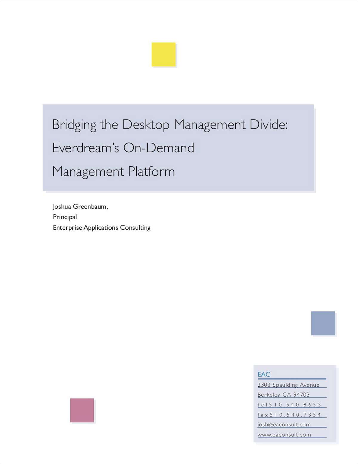 Bridging the Desktop Management Divide
