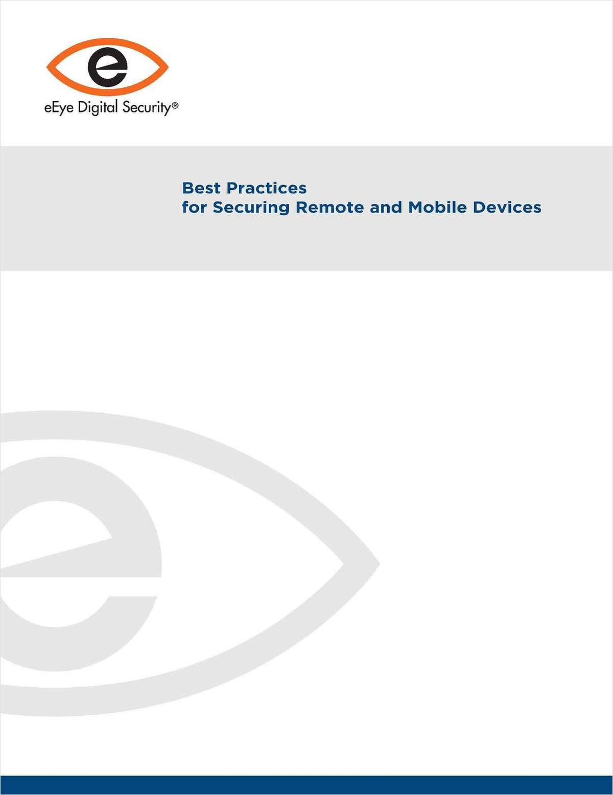 Best Practices for Security Remote and Mobile Devices
