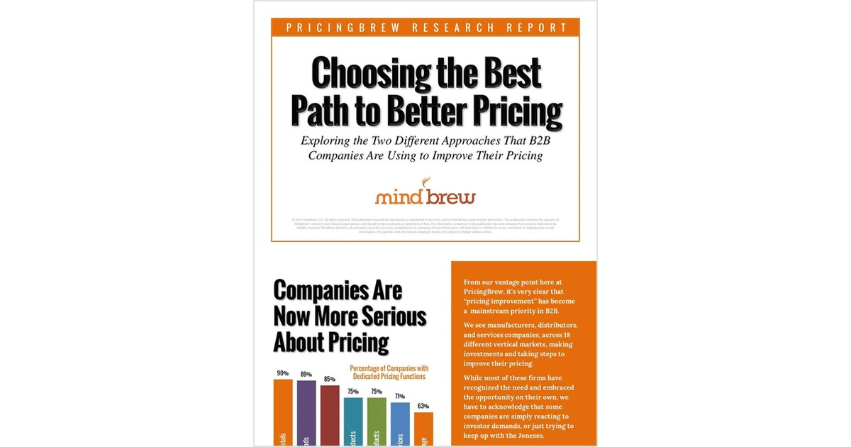 How to Choose the Best Path to Better Pricing, Free PROS eBook