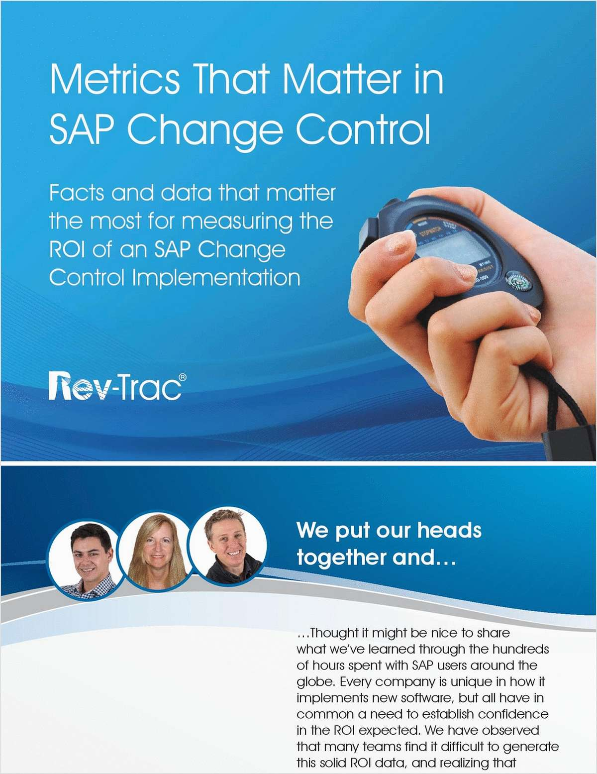 Metrics That Matter in SAP Change Control