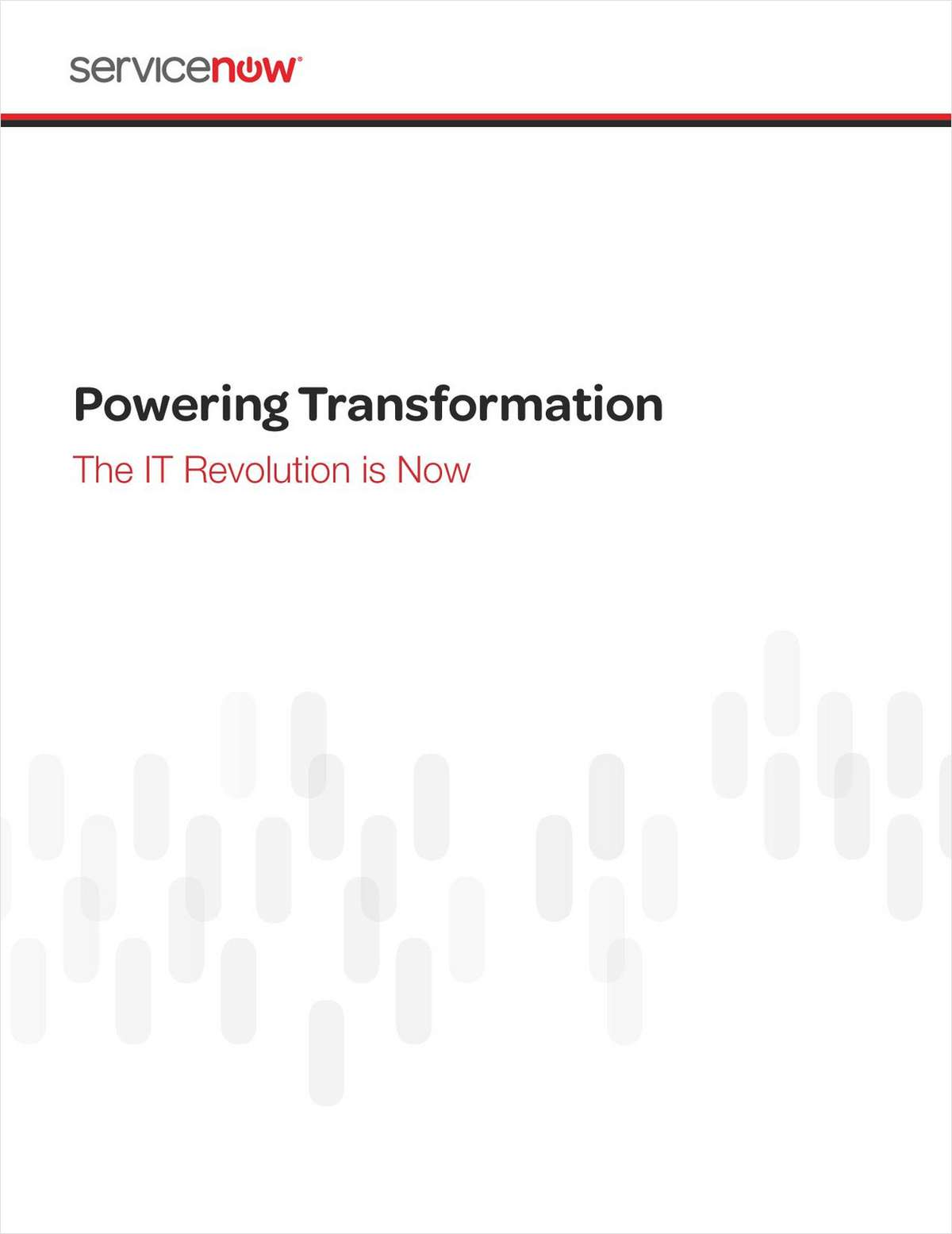Powering Transformation: The IT Revolution is Now