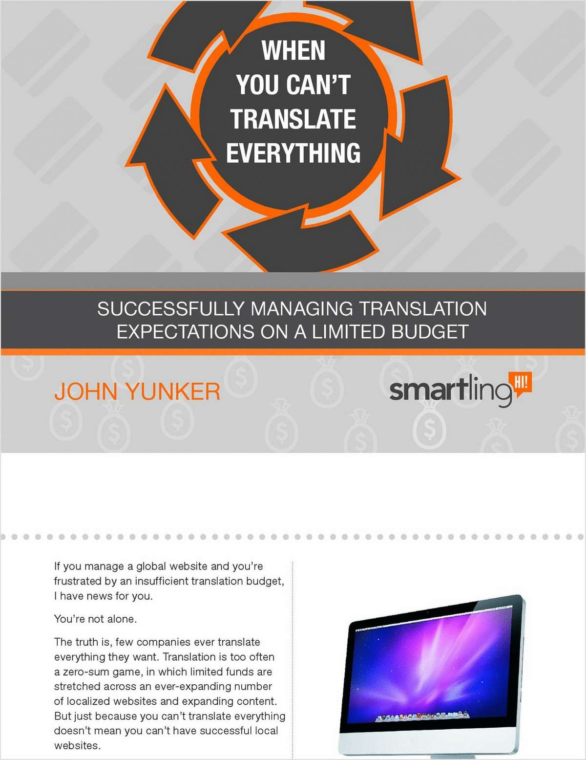 When You Can't Translate Everything: Managing Translation Expectations