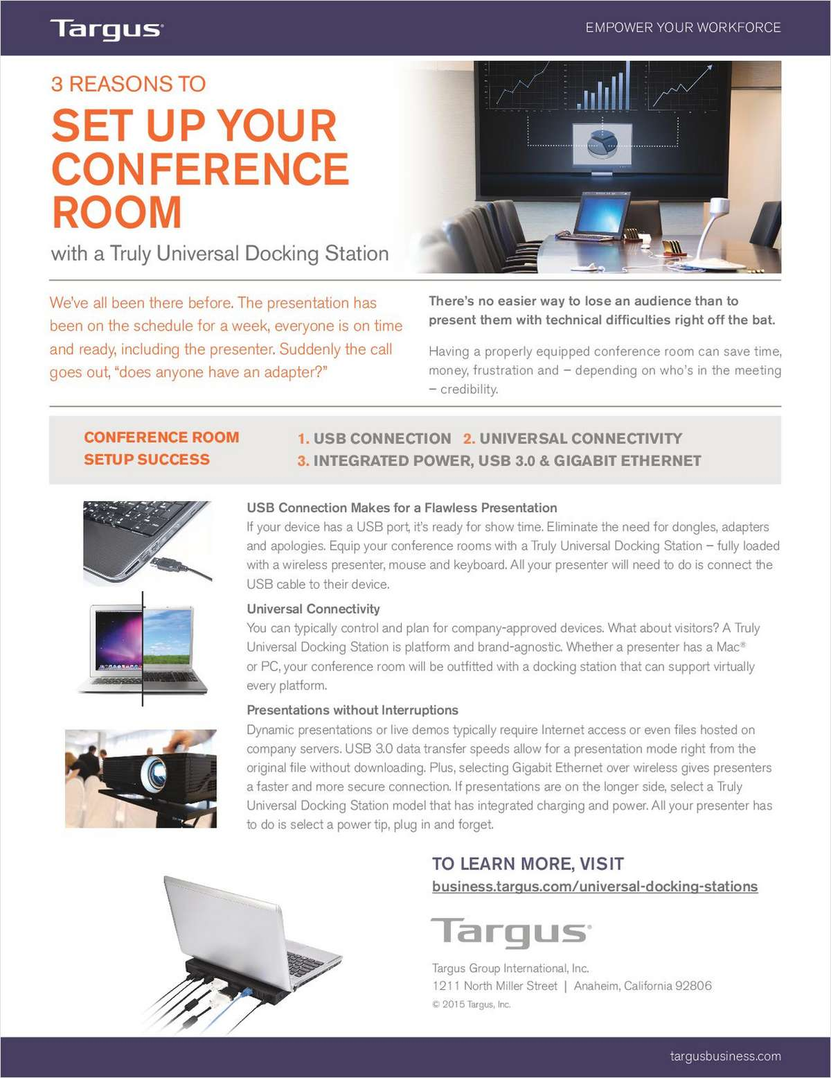 3 Reasons to Set Up Your Conference Room With a Truly Universal Docking Station