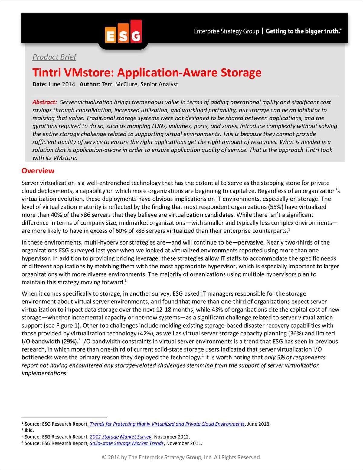 Tintri VMstore: Application-Aware Storage