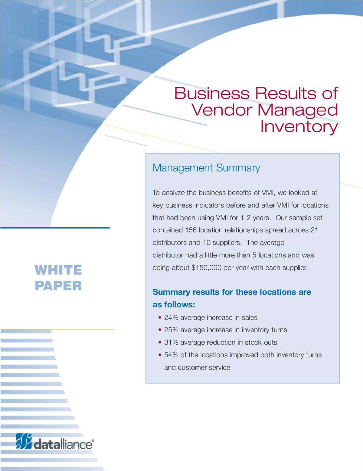 Business Results of Vendor Managed Inventory