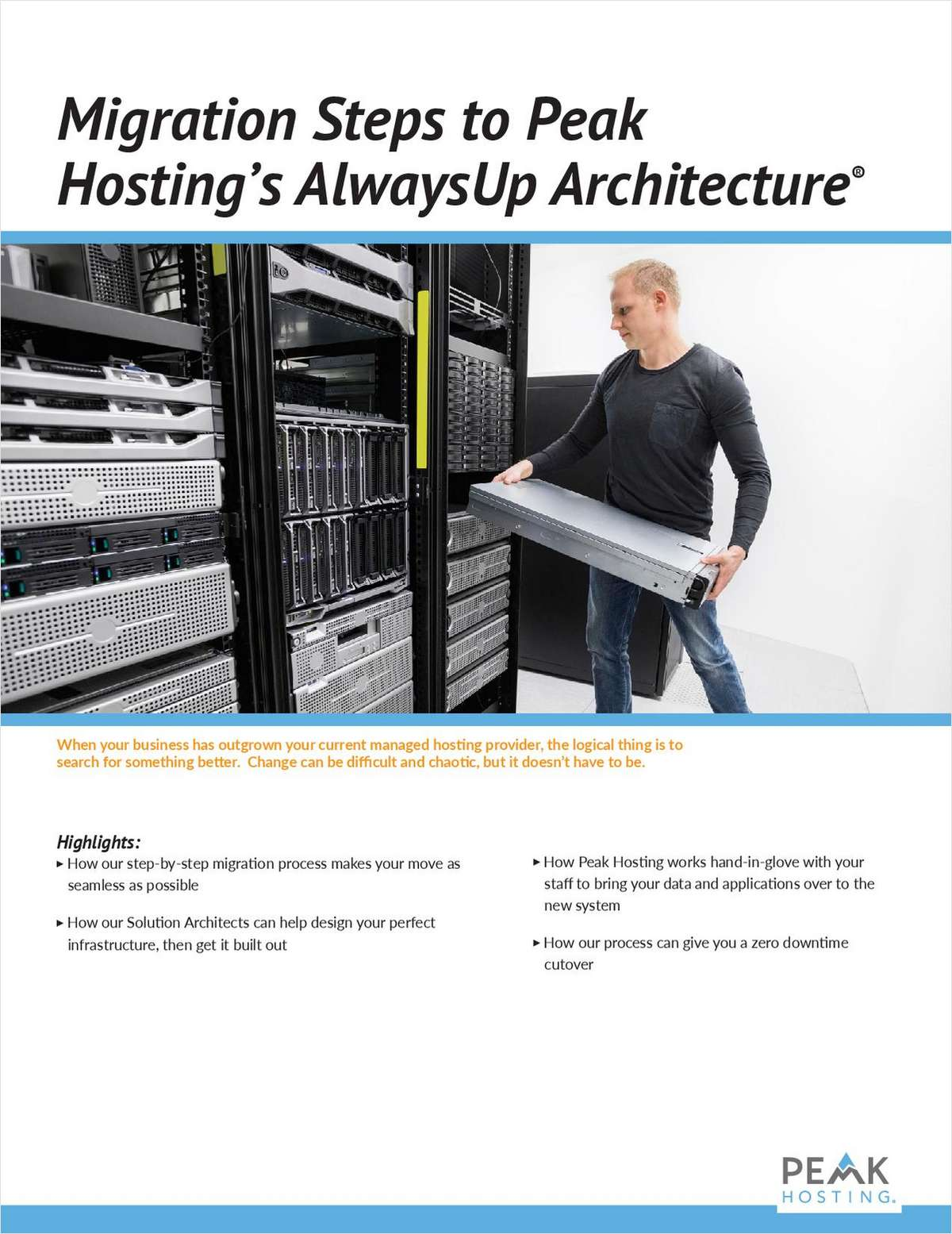 Migration Steps to Peak Hosting's AlwaysUp Architecture