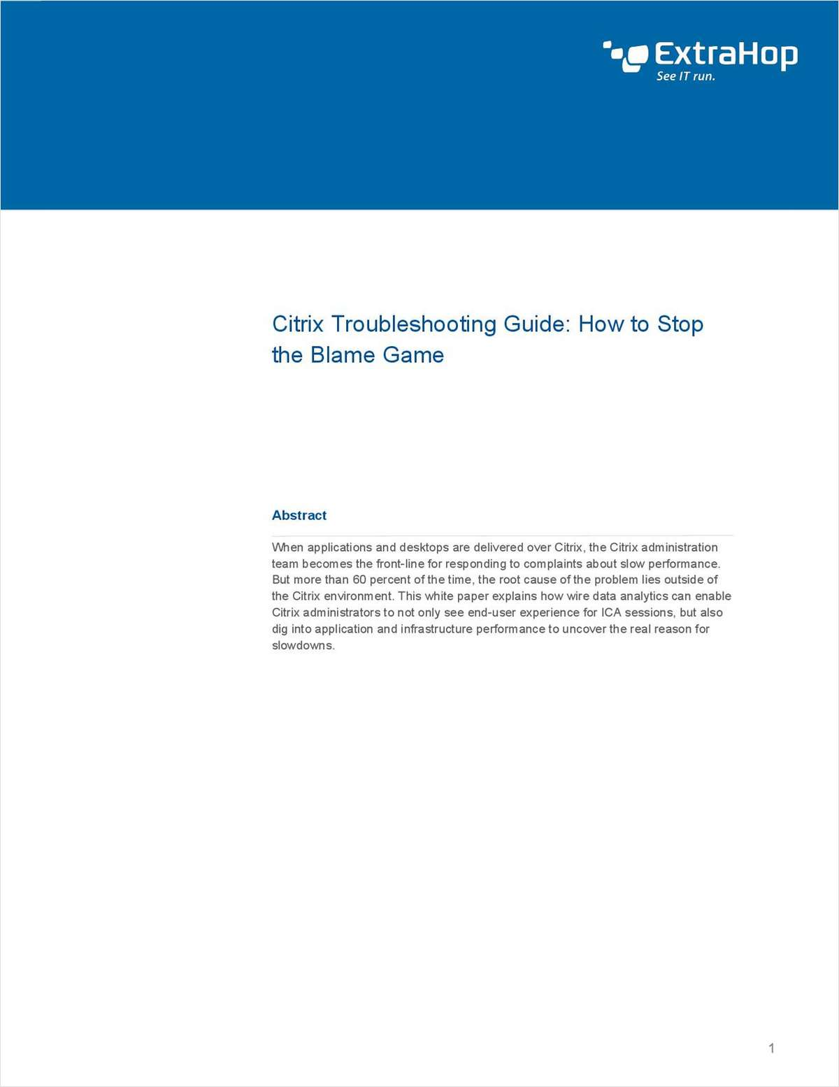Citrix Troubleshooting Guide: How to Stop the Blame Game