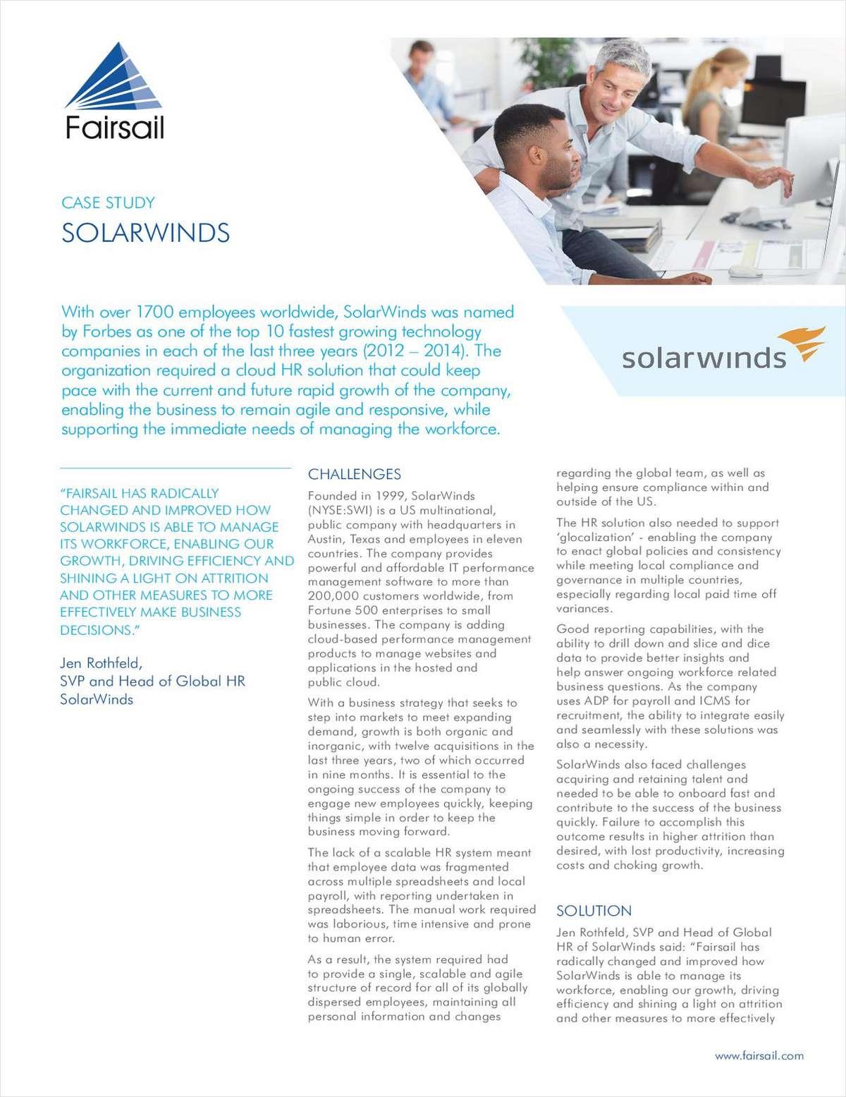 Fairsail Case Study: SolarWinds