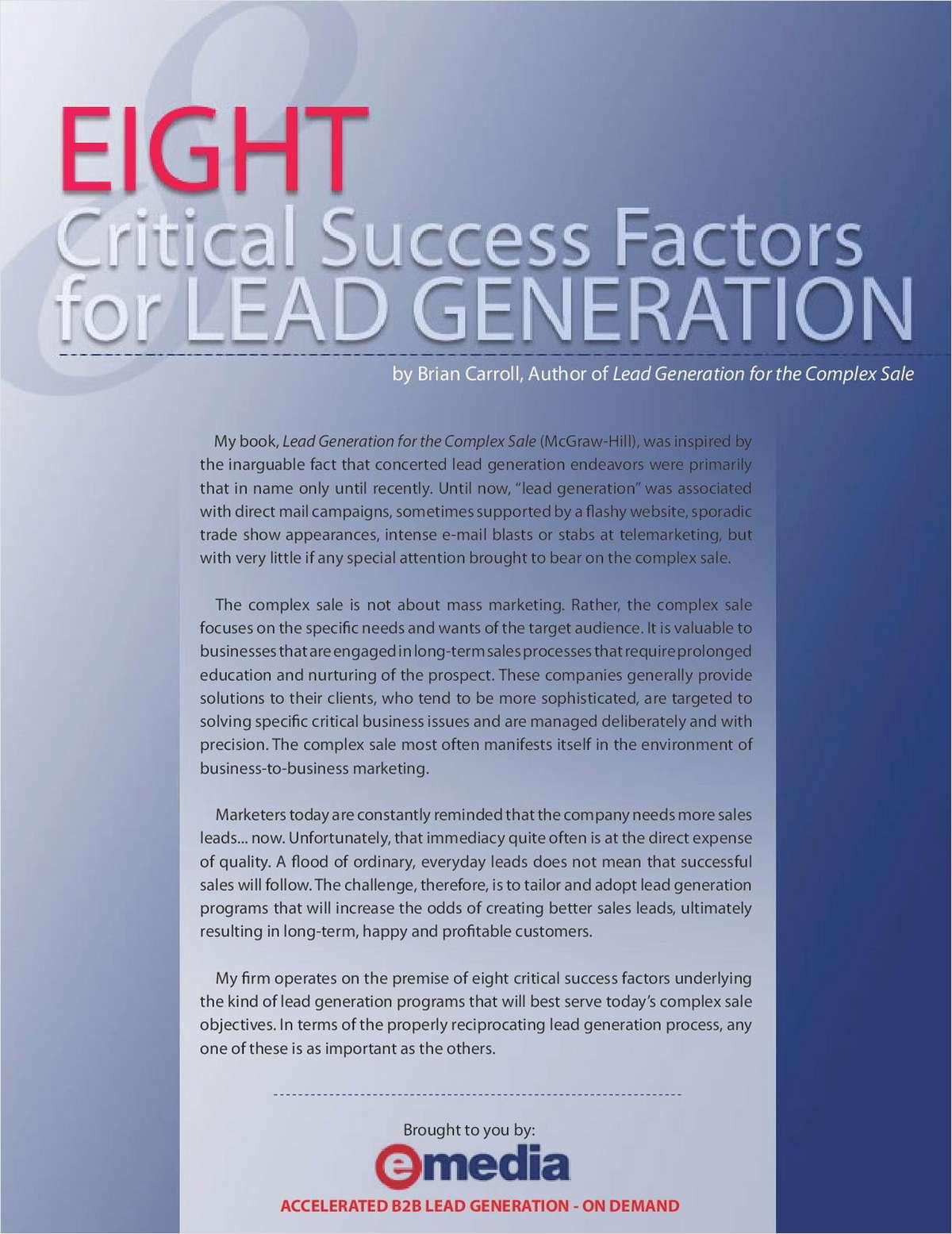 8 Critical Success Factors for Lead Generation