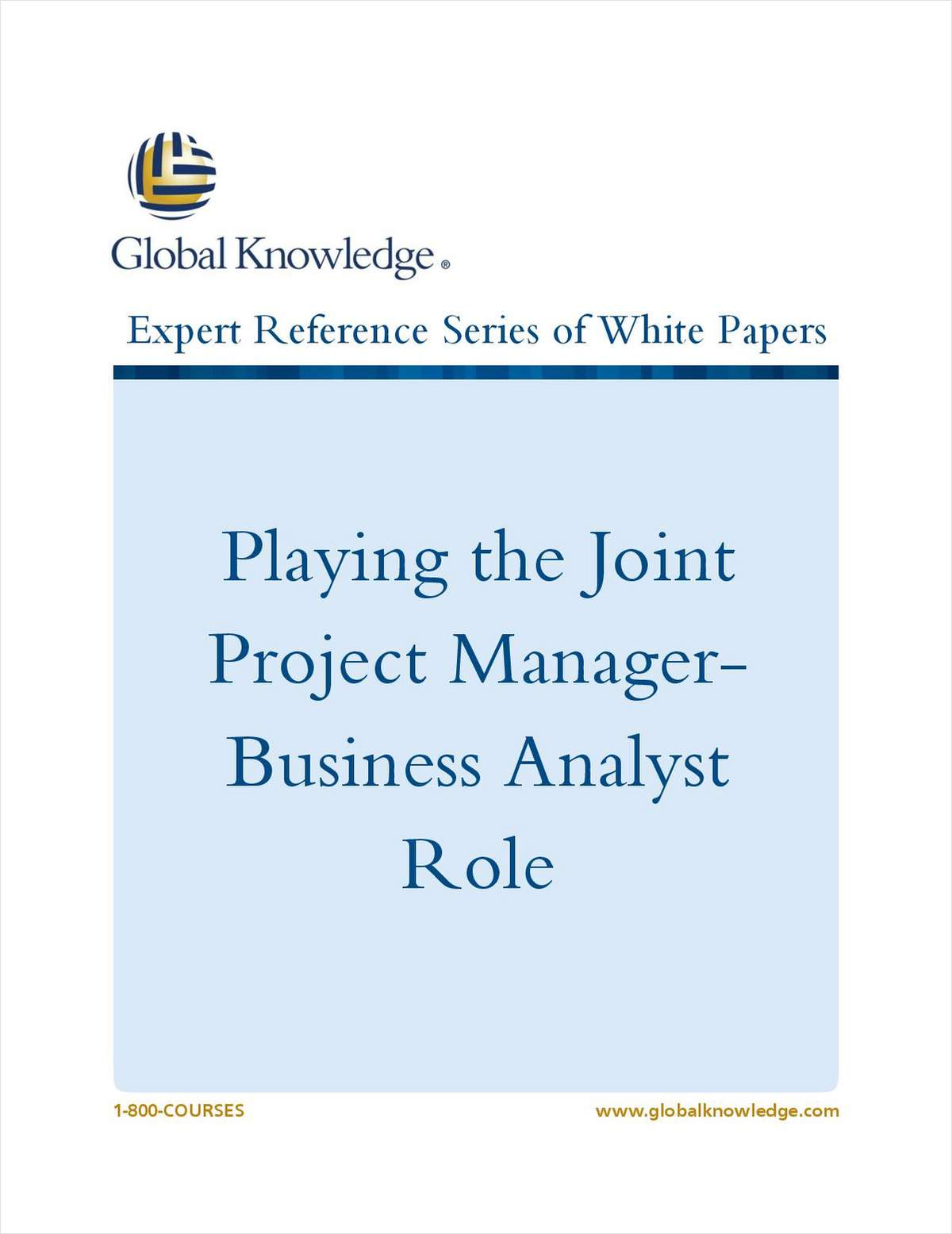 Playing the Joint Project Manager-Business Analyst Role