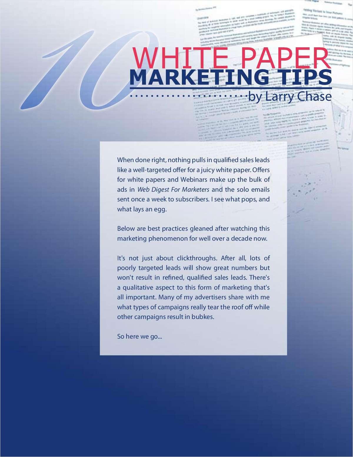 10 White Paper Marketing Tips