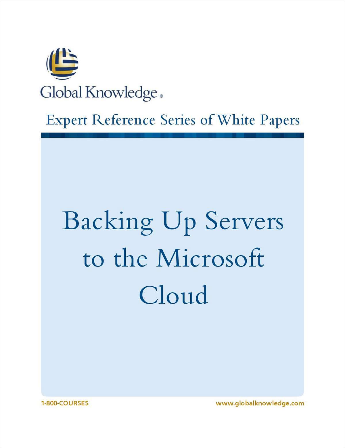 Backing Up Servers to the Microsoft Cloud