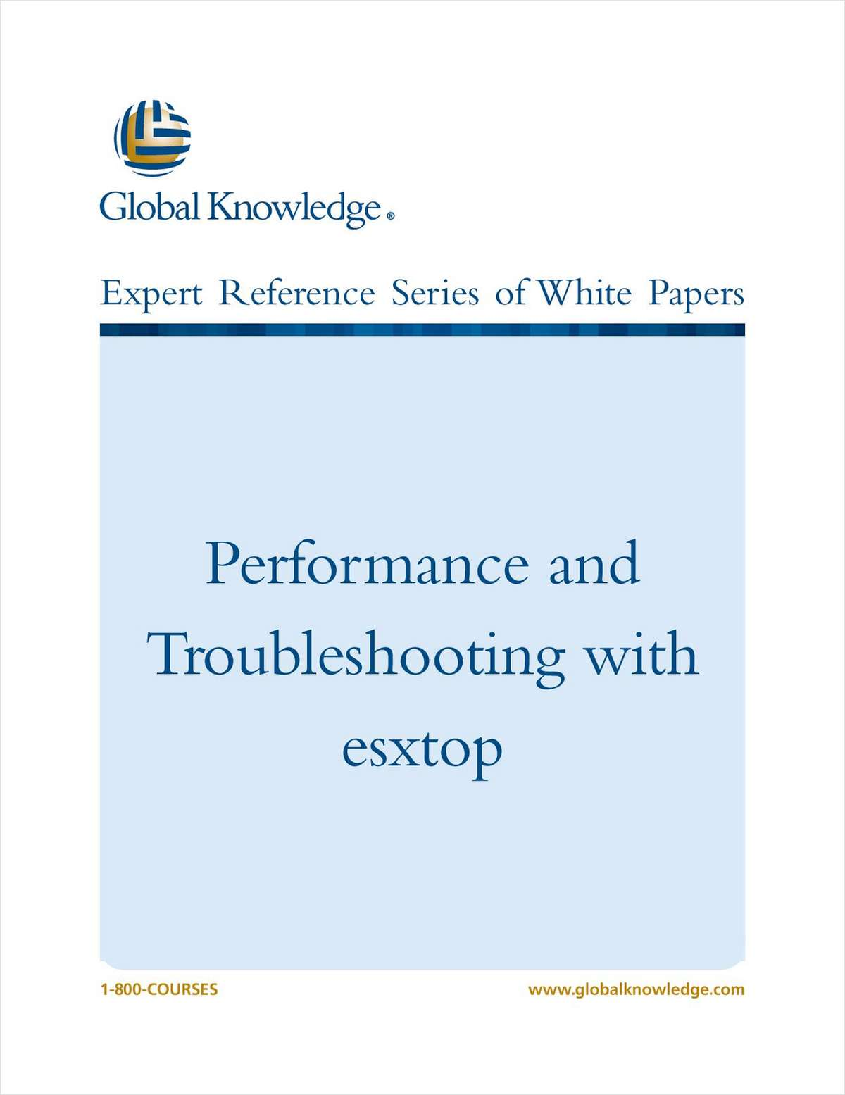 Performance and Troubleshooting with esxtop