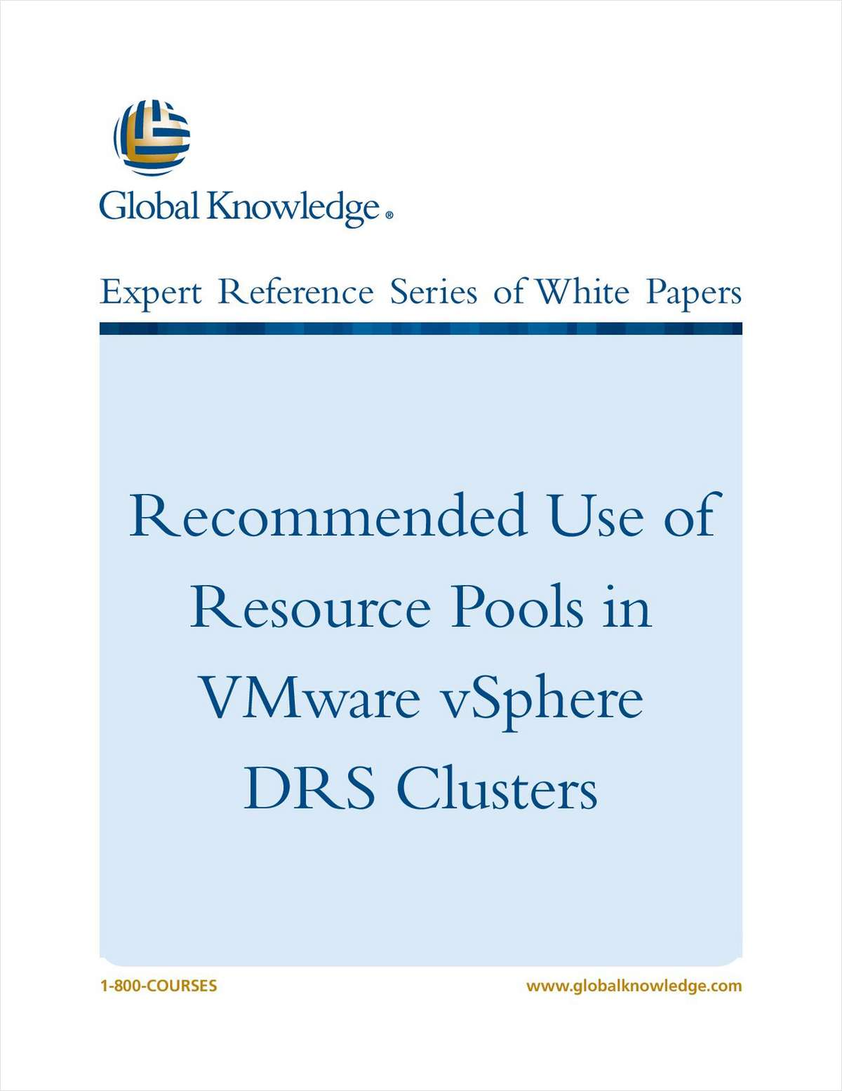 Recommended Use of Resource Pools in VMware vSphere DRS Clusters