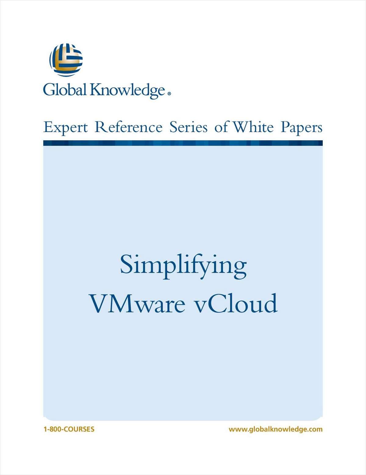 Simplifying VMware vCloud