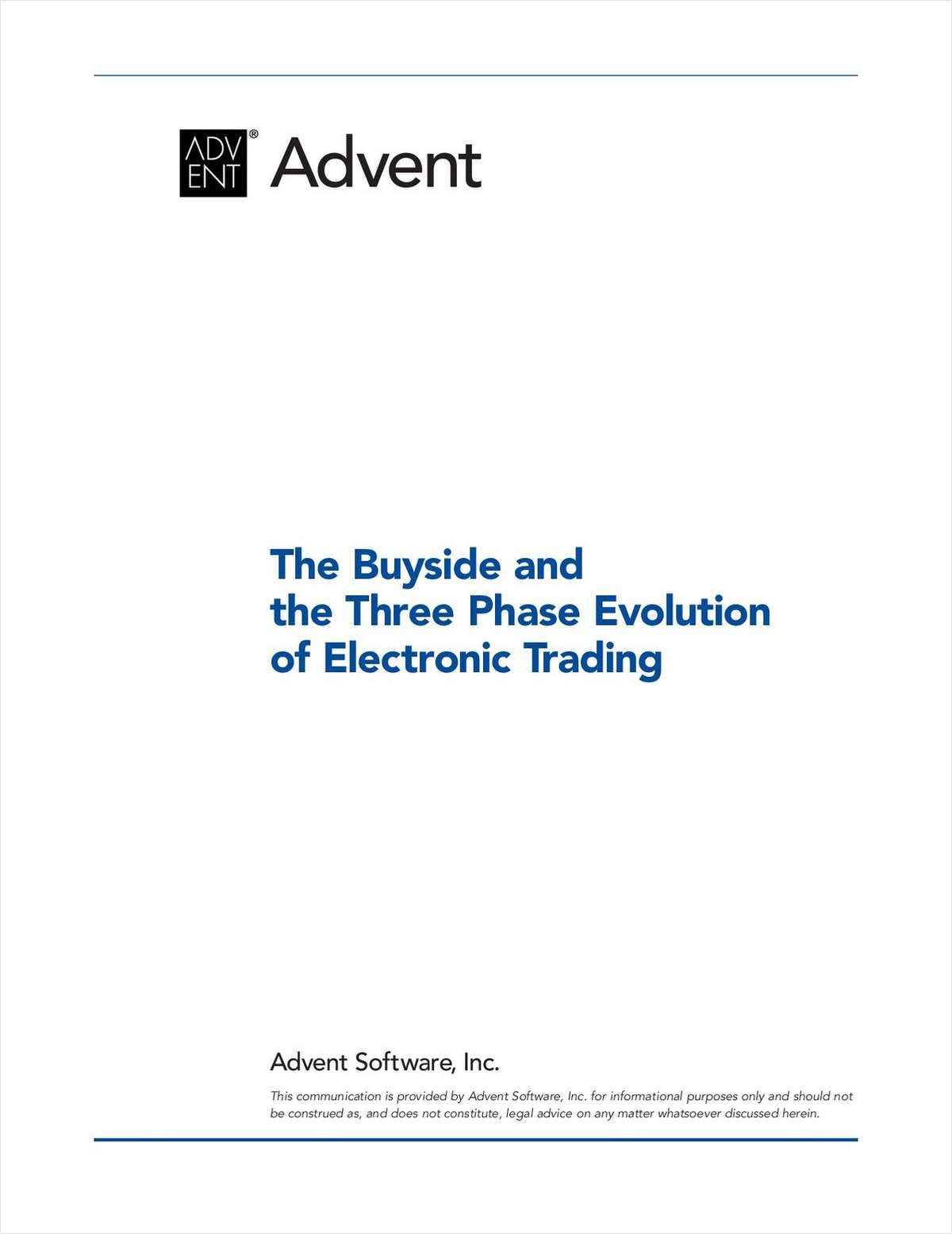 The Buyside and the Three-Phase Evolution of Electronic Trading