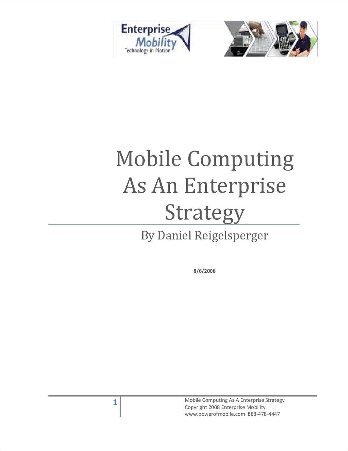 Mobile Computing as a Strategy