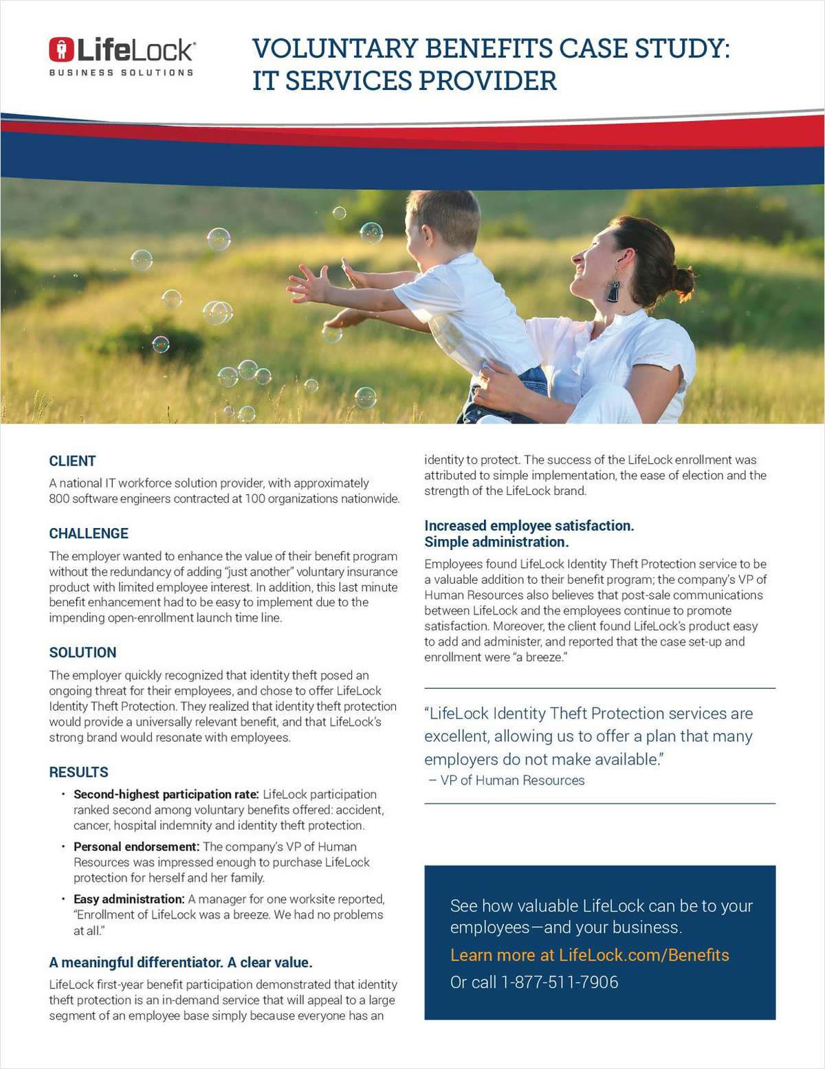 Voluntary Benefits Case Study: IT Services Provider