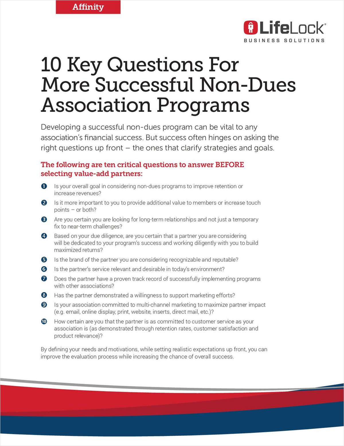 10 Key Questions For More Successful Non-Dues Association Program